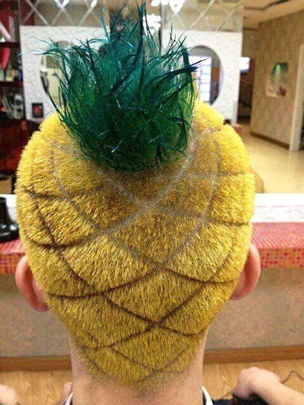 Pineapple hair.