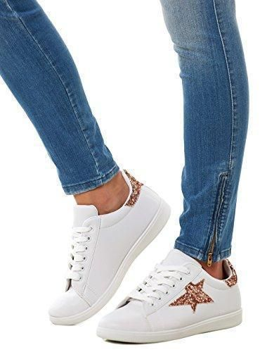 Oferta: 19.99€. Comprar Ofertas de Lifestyle - Zapatillas de Material Sintético para mujer Dorado dorado, color Dorado, talla EU 36 barato. ¡Mira las ofertas!