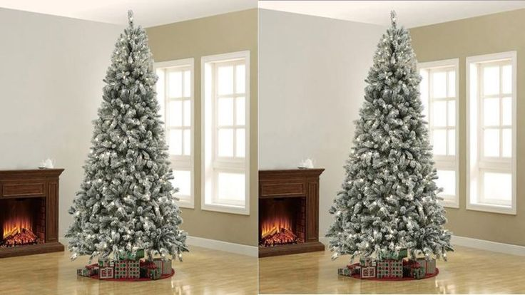 Pre-Lit 7.5' Winter Frost Pine Artificial Holiday Christmas Tree,Clear Lights #HolidayTime