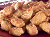 saw this on Ten Dollar Dinners this morning, will try! its baked not fried :)  Sesame chicken