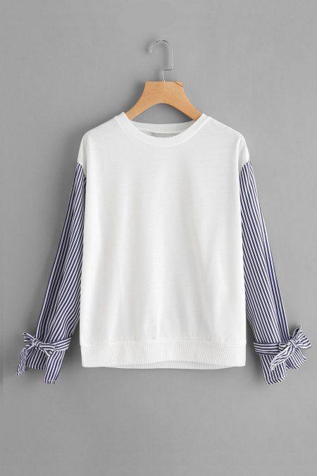 Buso contrast striped - Blanco