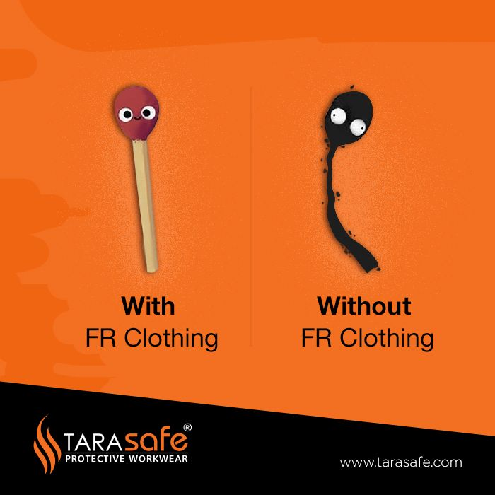 With and without FR Clothing Tarasafe  #tarasafe #frclothing #FlameResistant #frprotection #safety