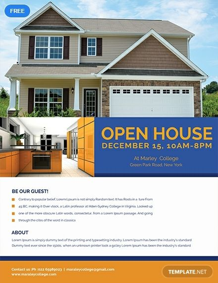 A Flyer Template You Can Use To Promote Your Open House That Is Up For Mortgage