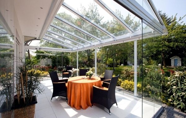 Ideas for glazed patio - 20 inspiring terraces window - The covered patio is an extension, which could be an area of ​​incredible life for your students to play.