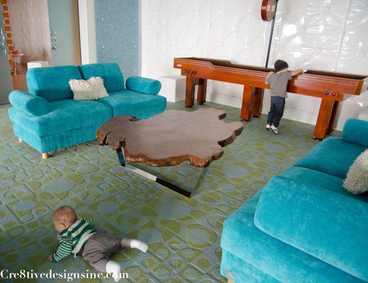 ive edge coffee table with polished chrome base