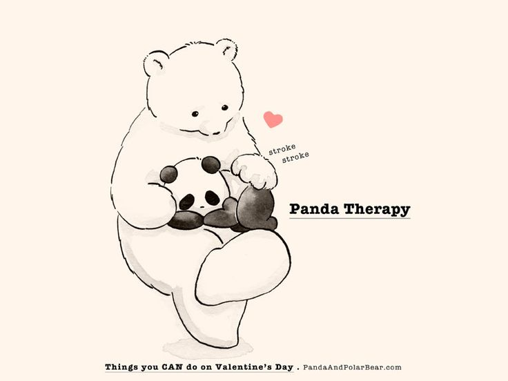 » Things You CAN Do On Valentine's Day: Panda Therapy -Panda and Polar Bear