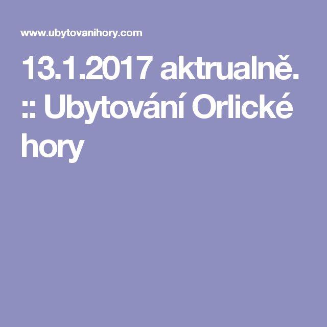 13.1.2017 aktrualně. :: Ubytování Orlické hory