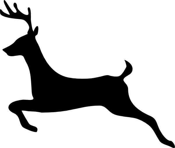 flying reindeer silhouette deer outline profile clip art vector clip art online royalty. Black Bedroom Furniture Sets. Home Design Ideas