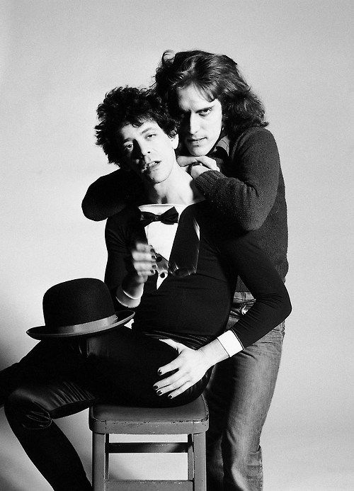 In Memoriam: Lou Reed, Godfather of Independent Rock (1942 - 2013). Lou Reed and photographer Mick Rock in 1975…