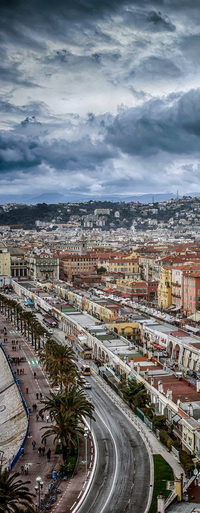 Nice city view of Nice, France (yes, this is how photos are SUPPOSED to look - before they are manipulated with neon colors)