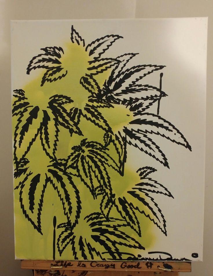 Cannabis Graffiti Art Green - Darianne Dawn, www.dariannedawn.ca