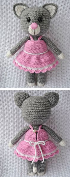 This charming lady cat amigurumi will be the best friend of your dear child