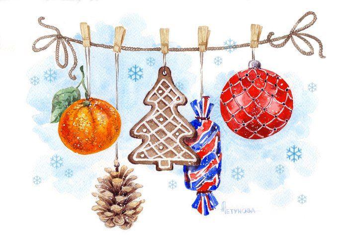 Картинки надписями, как рисовать новогодние открытки акварелью
