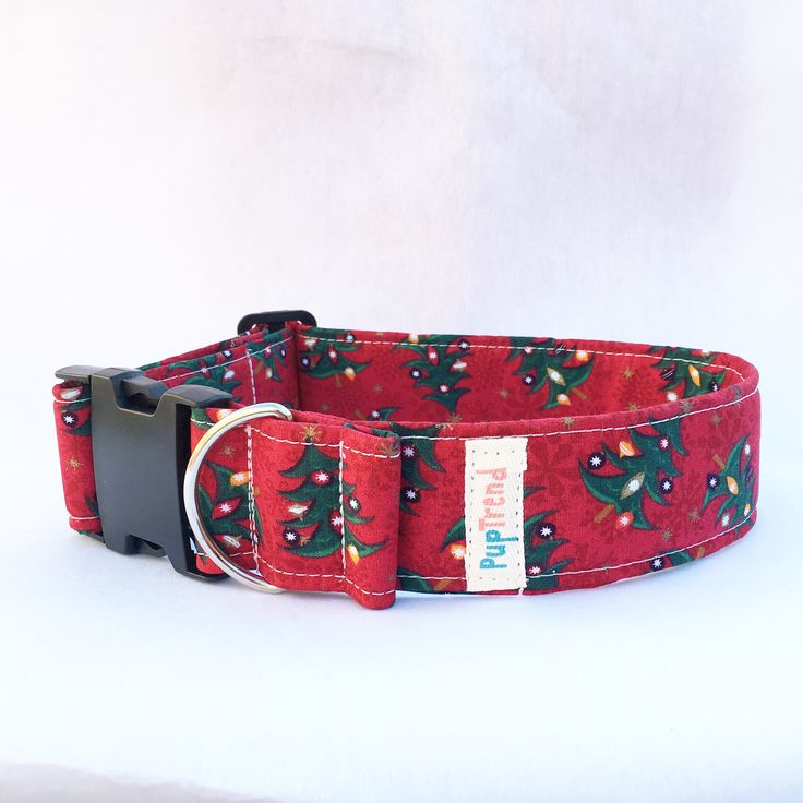 Red Christmas Tree Dog Collar - Clearance! 50% off!