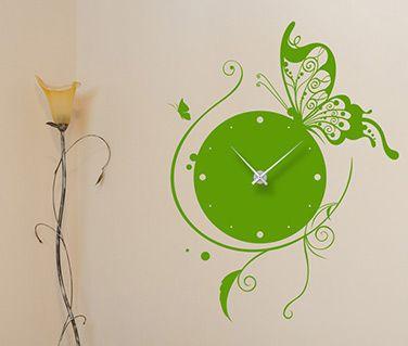 Ceas de perete cu fluturi. Recomandă-l prin Happy Share și primești 4% comision din vânzările rezultate.