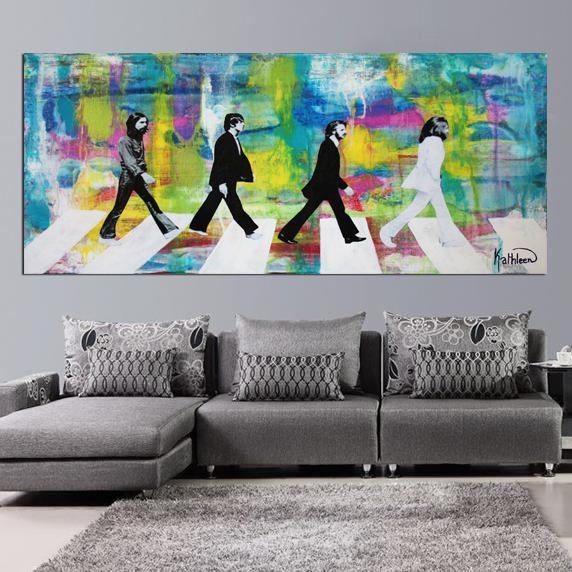 CANVAS PRINT BEATLES Large Print Modern Print Painting Canvas Art Wall Art Decor by Kathleen Artist