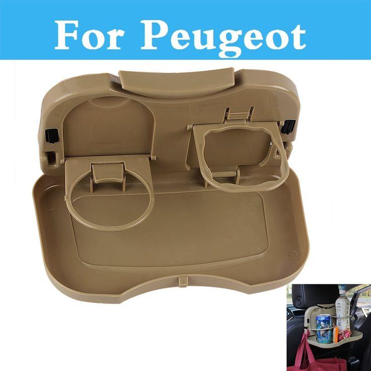 Car Cup Drink Holder Folding Table Debris Rack Auto Seat Shelf For Peugeot 408 508 607 Ion Rcz 308 Gti 4007 4008 407 Car Style #Affiliate