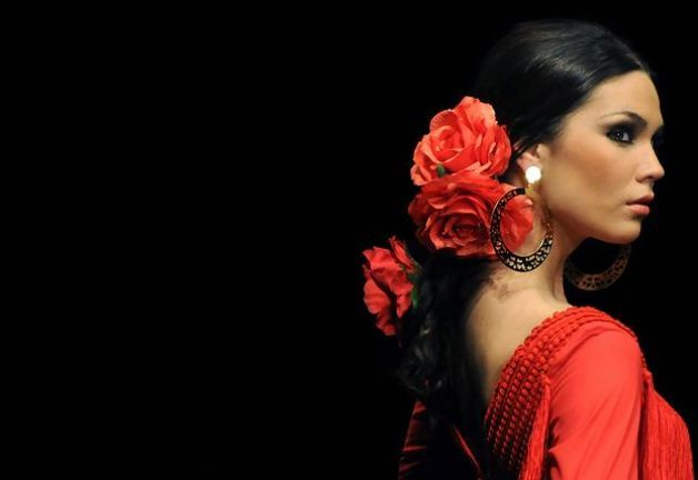 Designer Pilar Vera during SIMOF 2011 (International Flamenco Fashion Exhibition) in Sevilla