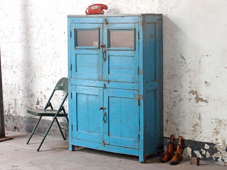 Vintage Blue Wardrobe from Scaramanga's Vintage Furniture Collection