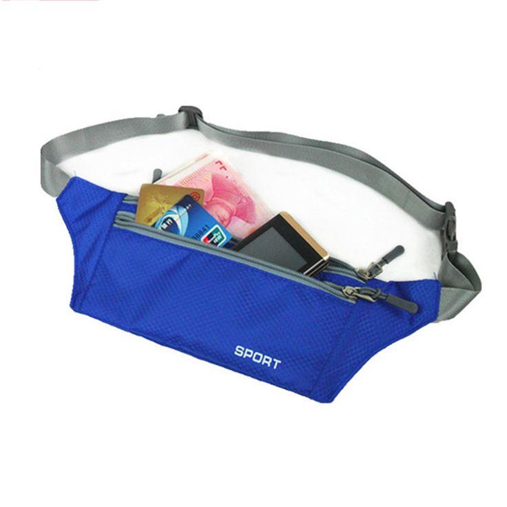 Portable belt Waterproof Belt  bag Bum Fanny Pack Zip Bags Waist Pack Pouch Nylon Waistband for accessory