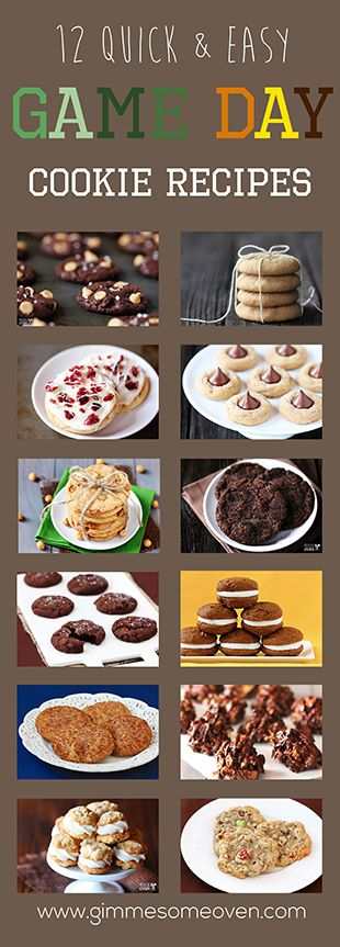 Game Day Cookie Recipes |    Bite size snacks Finger food Tailgating Party Food  Super Bowl