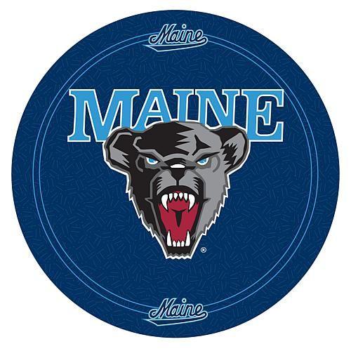 Trademark Global, Inc. NCAA Padded Bar Stool with Back - University of Maine