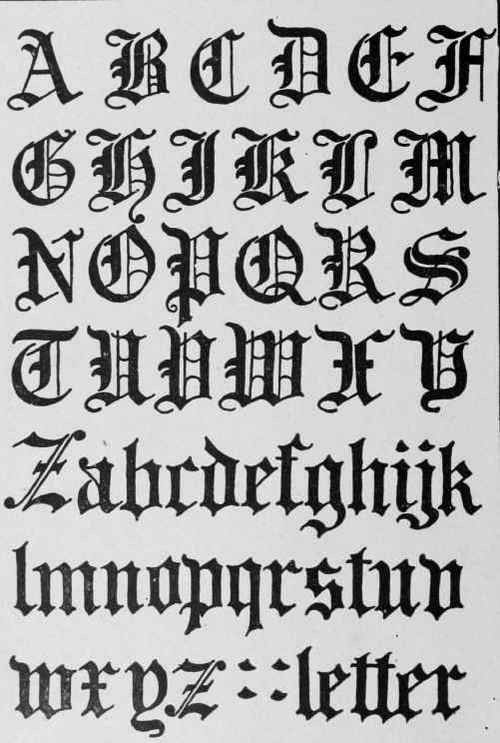 Pics Of Gothic Letters 3 Blackletter Insp Pinterest