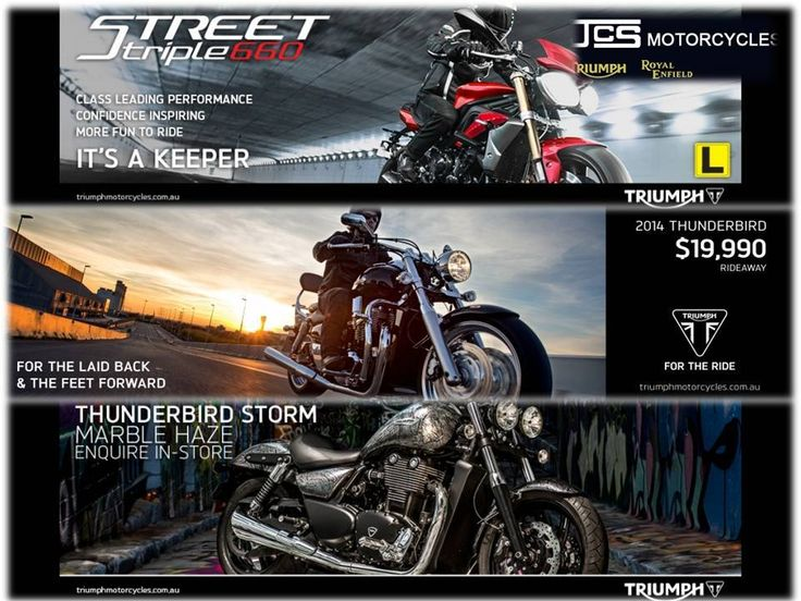 Now you can purchase superlative quality Triumph bikes in Australia at competitive price. JCS Motorcycles has brought forward a comprehensive assortment that is acknowledged for maintenance-free performance, high fuel efficiency, and smooth driving.