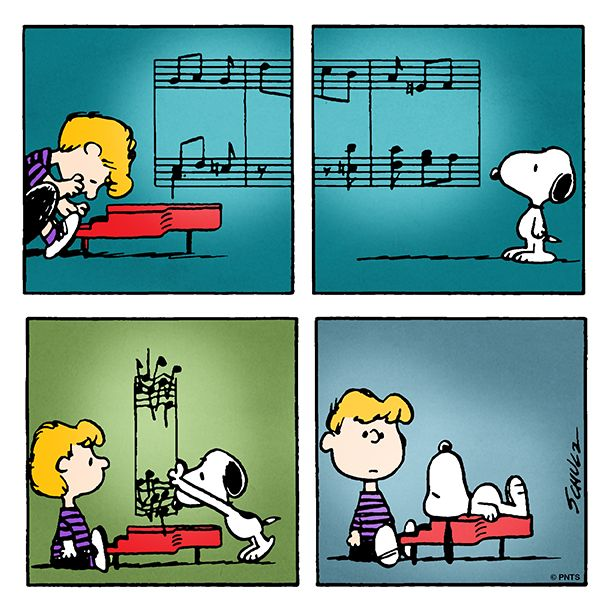 Monday with Schroeder and Snoopy
