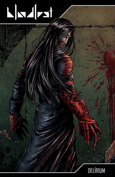 Bloodlust: Cryweni történetek antológia - Delírium képregényborító