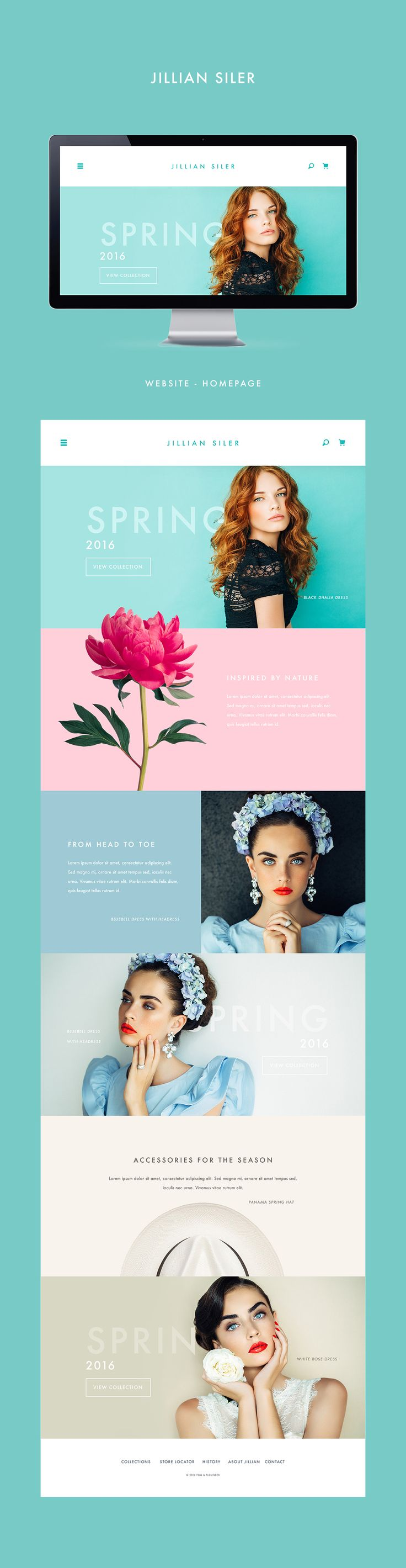 Jillian Siler - Fashion Site on Behance