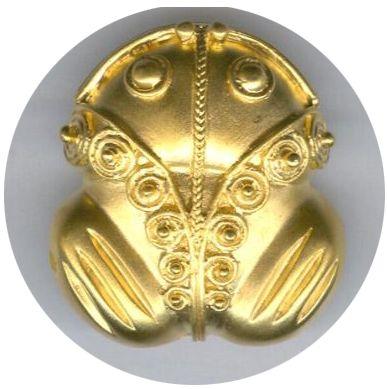 Cultura Tairona. RANA Gold frog Colombia