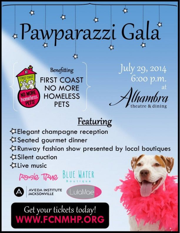 Pawparazzi Gala Flyer Petadoption Pet Adoption News Pet Adoption Event Animal Rescue Fundraising Animal Shelter Fundraiser