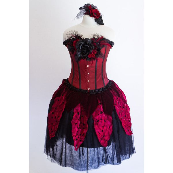 Adult Fairy Costume Size M Midnight Rose Crimson Fairy Costume ($425) ❤ liked on Polyvore featuring costumes, grey, women's clothing, adult women halloween costumes, queen costume, adult belle costume, adult flower costume and womens halloween costumes