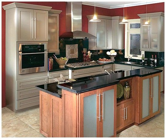 Small Kitchen Furniture Ideas: Small Kitchen Remodel (add Cabinets Under Raised Breakfast