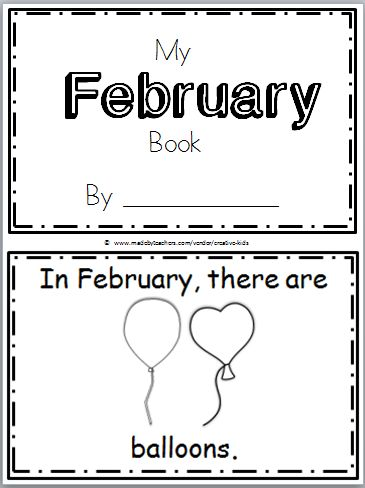 """Free February Mini Book for Kindergarten Practice reading the high frequency word """"there are"""" in this book. There are 9 pages in this mini book. You can print and use all the pages or just the ones that you prefer to use. The final page is blank to allow students to create their own page. …"""