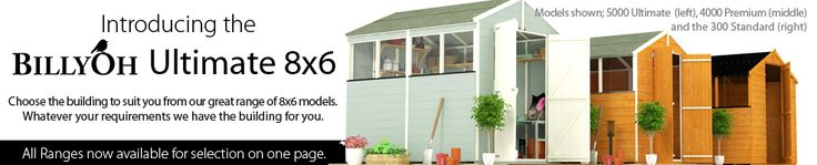 BillyOh Ultimate 8 x 6 With Windows - Garden Sheds