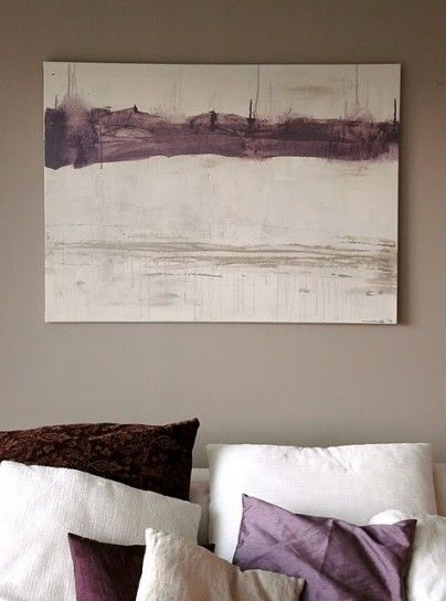 matching painting with pillows