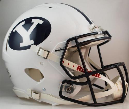 BYU Brigham Young University Full Size Riddell Speed Football Helmet