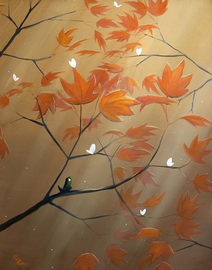 Fall Flutters _ 28x22 _ Rob Kaz