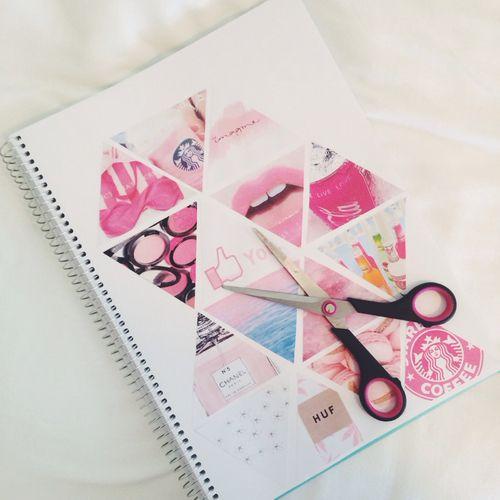Imagen de pink, diy, and notebook cuaderno decoración portada tumblr