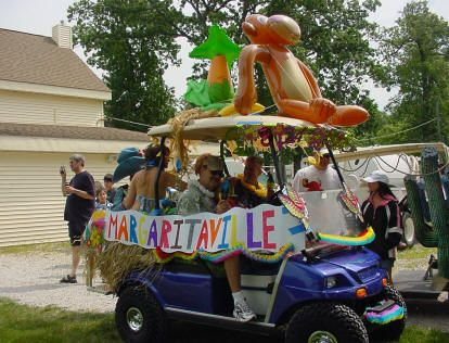 decorated golf carts for a parade GOLF DECORATING IDEAS