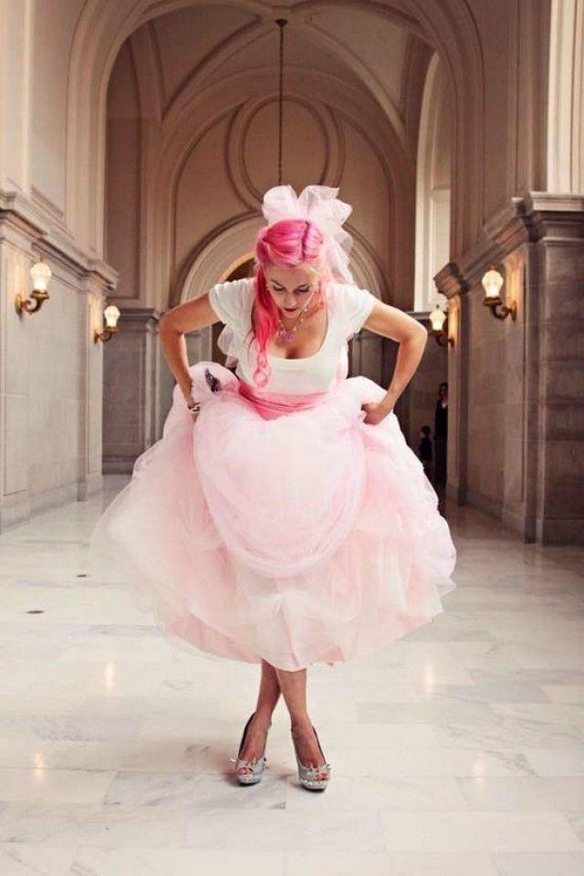 I want a pink wedding dress @Kristina Kilmer Mares