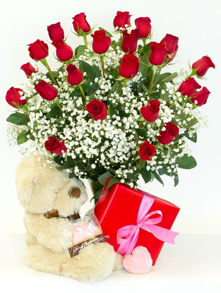Valentine's Day Packages - Cupid's Creation Package (2 Dozen Roses) - Flowerama Columbus - Columbus Florist - Same Day Flower Delivery