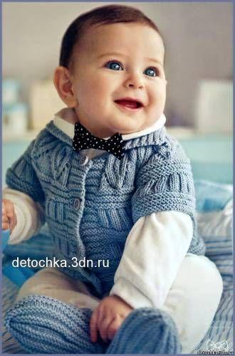 Детская серая безрукавка для мальчика - Вязание жилетов для мальчиков - Вязание…
