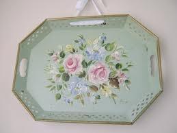 vintage tole tray