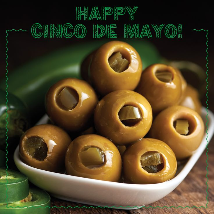 Happy Cinco de Mayo! Spice up your night with our Green Olives Stuffed with Jalapeños!