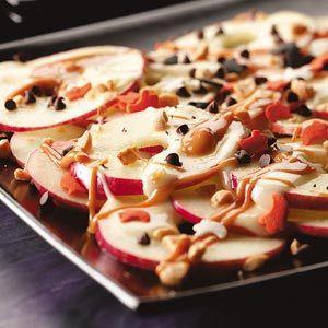 apple nachos: Apples Nachos, Health Food, Nachos Recipes, Apples Recipes, Weights Watchers, Healthy Eating, Schools Snacks, Healthy Desserts, Caramel Apples