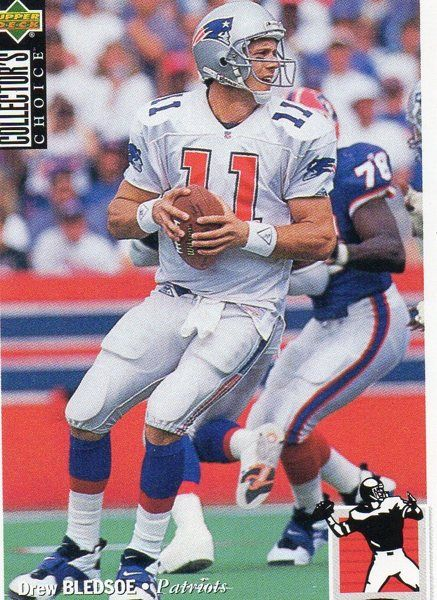1997 Upper Deck Collector's Choice Football Card Patriots Drew Bledsoe