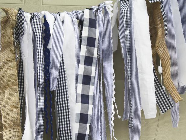 Seersucker, gingham, stripes, lace, burlap: garland or tassels?